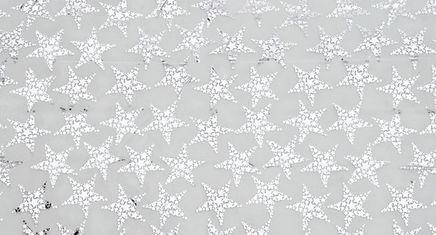 Ubrus Metalické hvězdy stříbrný