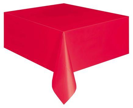 Ubrus plastový červený