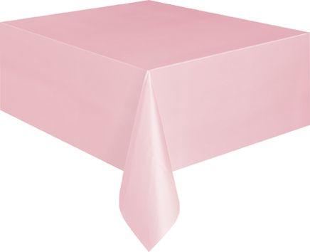 Ubrus plastový pastel pink