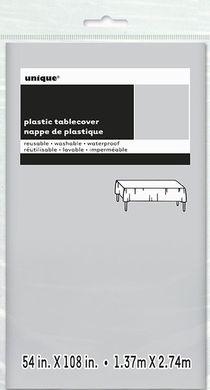 Ubrus plastový stříbrný