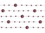Perleťové girlandy tmavě červené