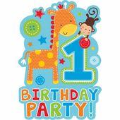 Pozvánky 1. narozeniny Modré safari