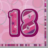 "Ubrousky Birthday ""18"" Pink"