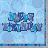 Ubrousky Birthday Blue