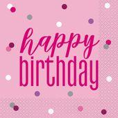 Ubrousky Birthday Pink