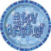 Talíř Birthday Blue