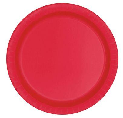 Talíř velký červený