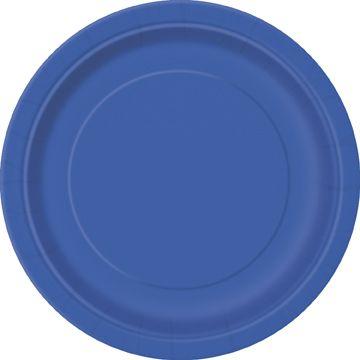 Talíř velký modrý