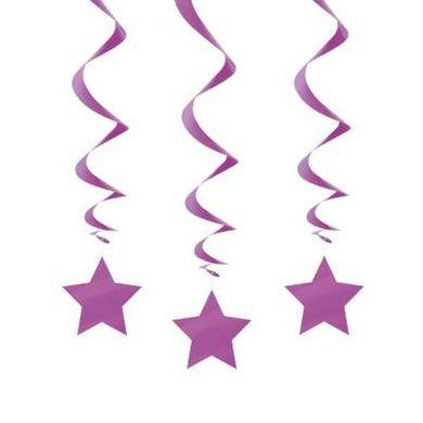 Závěsné spirály purpurové star