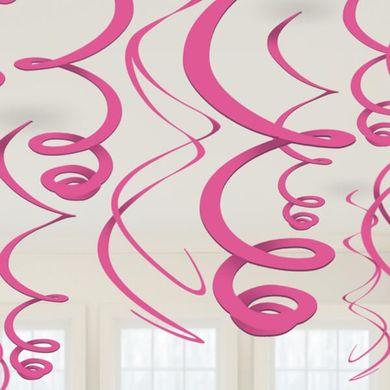 Závěsné spirály růžové