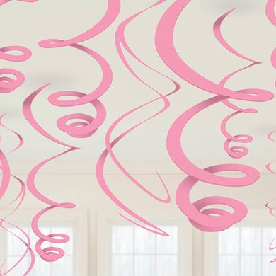 Závěsné spirály světle-růžové