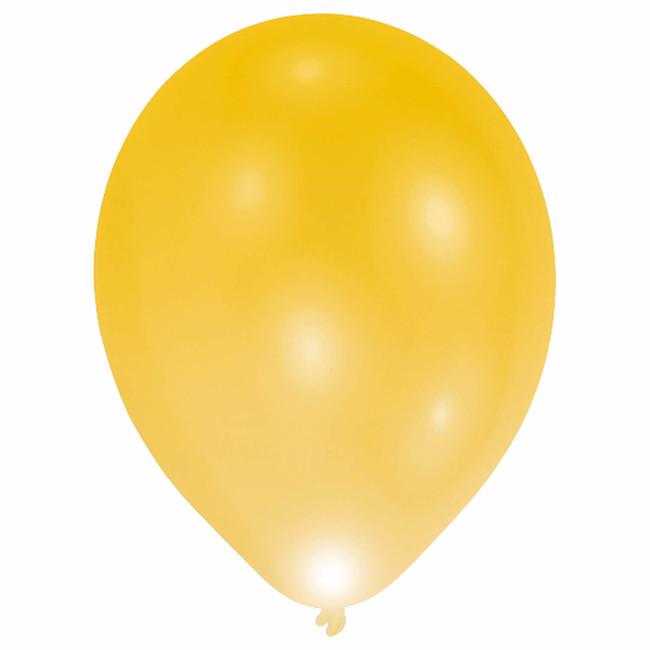 Svítící LED balónky zlaté