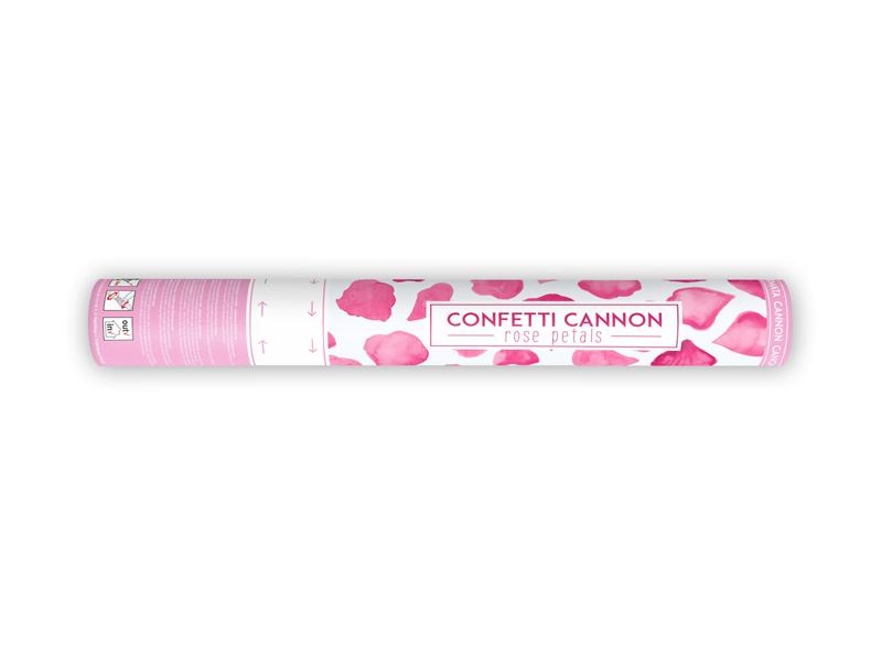 Vystřelovací konfety růžové lupeny růží 40cm